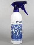 16oz Spray Bottle Gloss White - Blue Print - Blue Trigger