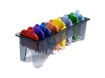 Wahl Attachment Plastic Clipper Combs #1-8 Color Coded in Organizer