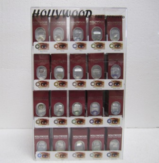 Hollywood Luxury Color Contact Lenses Sugar Gray 1 Pair