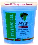 African Essence Non Flaking Styling Gel Blue Firm 8oz