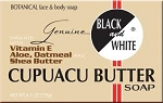 Black & White Cupuacu Butter w/ Vitamin E, Aloe, Oatmeal and Shea Butter Soap 6.1oz