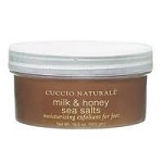 Cuccio Naturale Milk & Honey Sea Salts moisturizing exfoliant for feet