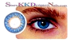 Hollywood Luxury Color Contact Lenses Blue (1 pair + free lens case included)