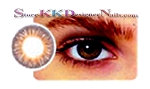 Hollywood Luxury Color Contact Lenses Chestnut Brown (1 pair + free lens case included)