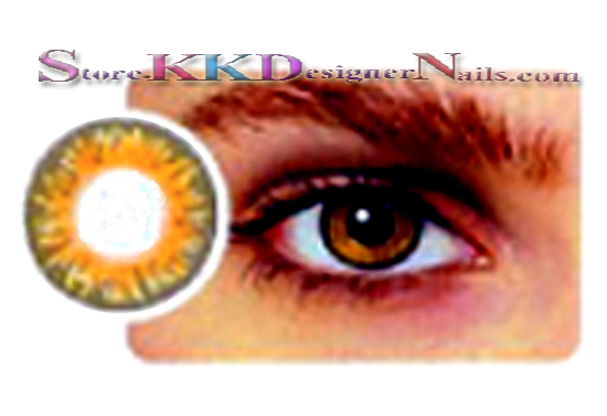 hollywood luxury color contact lenses pure hazel 1 pair free lens