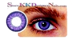 Hollywood Luxury Color Contact Lenses Violet (1 pair + free lens case included)