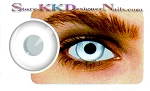 Hollywood Luxury Color Contact Lenses Crazy White Out (1 pair + free lens case included)
