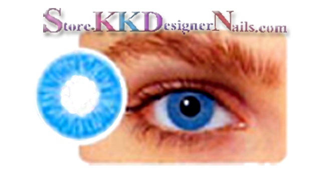 Hollywood Luxury Color Contact Lenses True Sapphire  1 pair   free    True Sapphire Contact Lenses