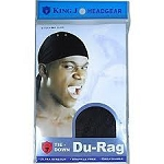 King J Tie Down DuRag Black