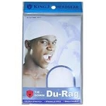 King J Tie Down DuRag White
