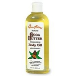 Queen Helene Natural Cocoa Butter Moisturizing Body Oil with Vitamin E 10oz