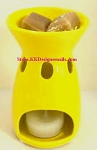 Time and Again Ceramic Tart Burner yellow
