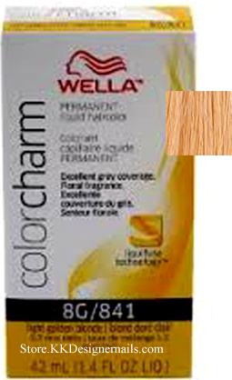 color charm permanent hair color wella color charm 8g 841 light golden