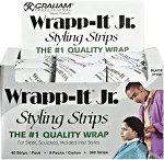 Wrapp-it Junior Styling Strips Black Large box