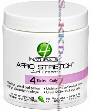 4 Naturals Afro Stretch Curl Cream 4 Kinky Curly 6oz