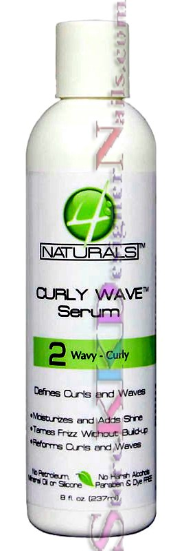 4 Naturals Curly Wave Serum 2 Wavy Curly Serum 8oz