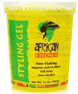 African Essence Non Flaking Styling Gel Yellow Ultra 5lb
