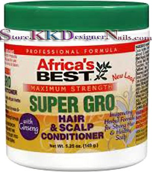 Africa's Best Super Gro Maximum Hair & Scalp Conditioner 5.25oz