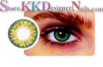 Hollywood Luxury Color Contact Lenses Jade Green (1 pair + free lens case included)