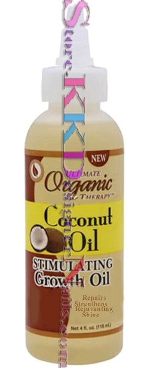 Ultimate Organics Therapy Coconut Oil Stimulating Growth Oil 4oz