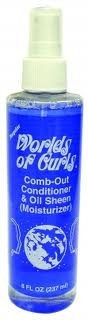 World of Curls Comb-Out Cond. & Oil Sheen Regular 8 oz