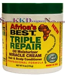 Africa's Best Triple Repair Oil Moisturizer Miracle Cream with Shea Butter 6oz