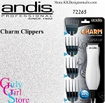 Andis Charm Clippers/ Trimmers White 72265
