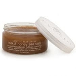 Cuccio Naturale Milk & Honey Sea Salts moisturizing exfoliant for full body, hands & feet