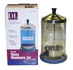 DL Glass Manicure/ Disinfecting Jar