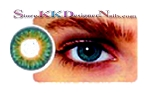Hollywood Luxury Color Contact Lenses Aqua Marine (1 pair + free lens case included)