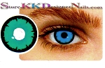 Hollywood Luxury Color Contact Lenses Crazy Angelic Blue (1 pair + free lens case included)