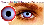Hollywood Luxury Color Contact Lenses Crazy Ber Zerker (1 pair + free lens case included)