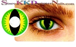 Hollywood Luxury Color Contact Lenses Crazy Creepers (1 pair + free lens case included)