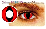 Hollywood Luxury Color Contact Lenses Crazy Red Cat (1 pair + free lens case included)