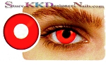 Hollywood Luxury Color Contact Lenses Crazy Red Out (1 pair + free lens case included)