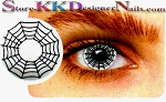 Hollywood Luxury Color Contact Lenses Crazy Spider Web (1 pair + free lens case included)