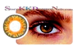 Hollywood Luxury Color Contact Lenses Pure Hazel (1 pair + free lens case included)
