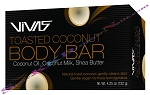 Vivas Toasted Coconut Body Bar with Coconut Oil , Coconut Milk,Shea Butter 4.25oz